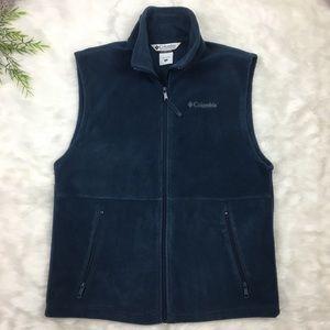 Columbia Men's Small Blue Fleece Vest Zippered